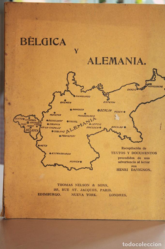 BÉLGICA Y ALEMANIA. HENRI DAVIGNON. 128 PÁGINAS. INFORMACIÓN Y 17 FOTOS. (Libros antiguos (hasta 1936), raros y curiosos - Historia - Primera Guerra Mundial)