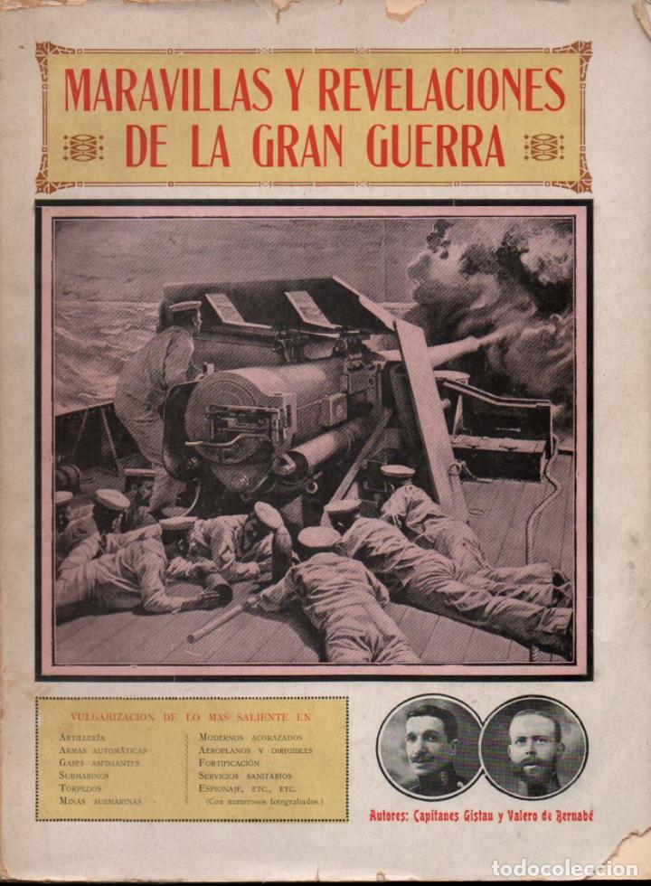 GISTAU Y VALERO DE BERNABÉ : MARAVILLAS Y REVELACIONES DE LA GRAN GUERRA (MAUCCI, C. 1919) (Libros antiguos (hasta 1936), raros y curiosos - Historia - Primera Guerra Mundial)