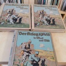 Libros antiguos: DER KRIEG 1914 COMPLETO 3 TOMOS I GUERRA MUNDIAL. Lote 148453213