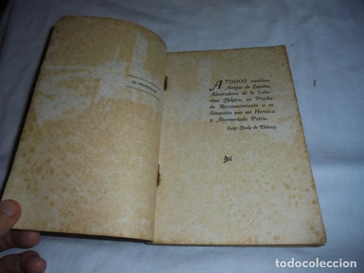 Libros antiguos: LAS TROPAS ALEMANAS EN BELGICA IMPRESIONES DE UN COMBATIENTE.JORGE BODY DE THIERRY.1917 - Foto 4 - 161014452