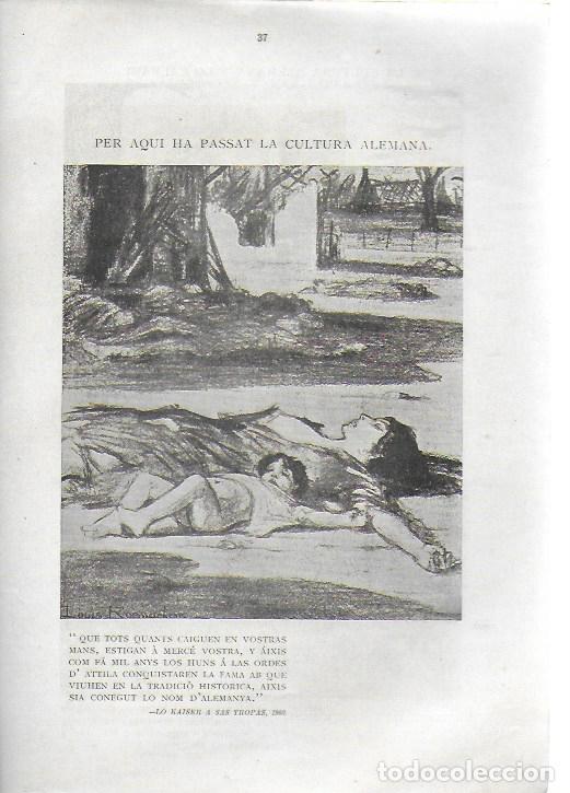 Libros antiguos: Cartrons de Raemaekers. Famós artista holandés. Londres : National Press, 1916. 25x18 cm. 29 p. - Foto 4 - 162495666
