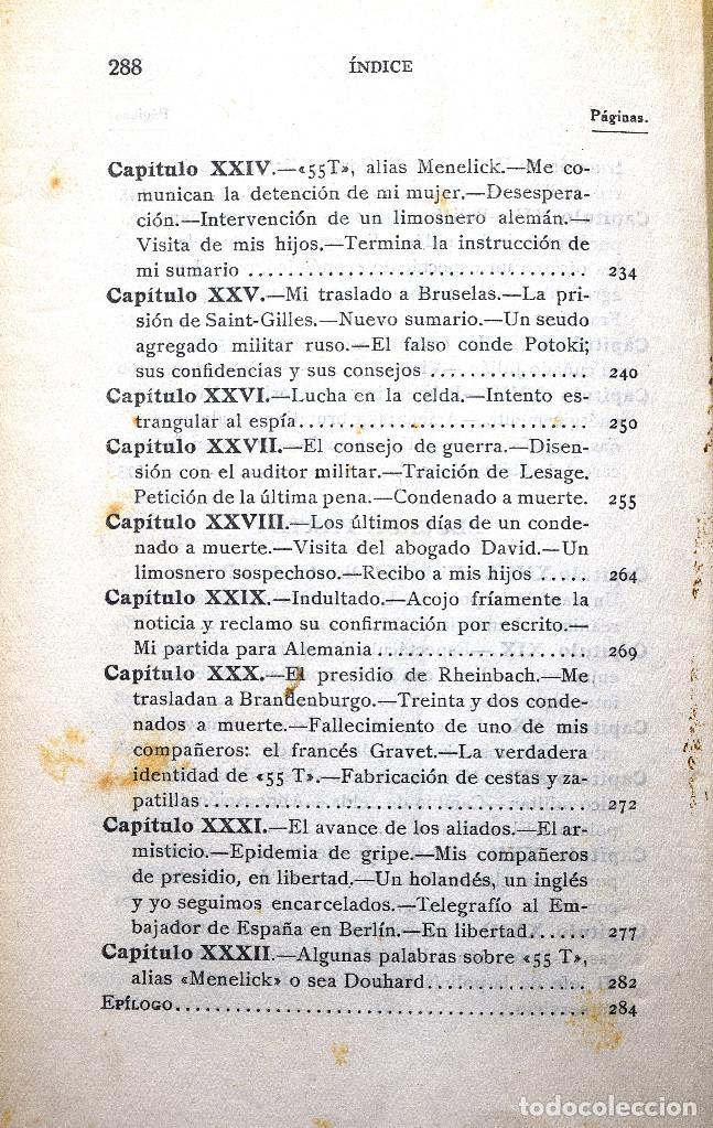 Libros antiguos: POR QUÉ ME CONDENARON A MUERTE, MEMORIAS 1914 - 1918 - JAIME MIR - EDITORIAL ZEUS 1930 - Foto 7 - 170542940