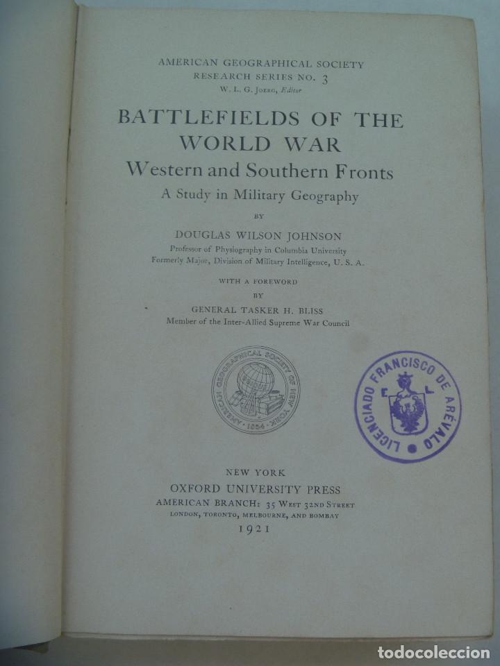 Libros antiguos: Iº GUERRA MUNDIAL: BATTLEFIELDS OF THE WORLD WAR . AMERICAN GEOGRAPHICAL SOCIETY, 1921 . EN INGLES - Foto 3 - 170898680