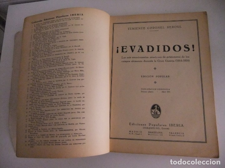 Libros antiguos: ¡evadidos! del teniente coronel reboul - Foto 4 - 173800185