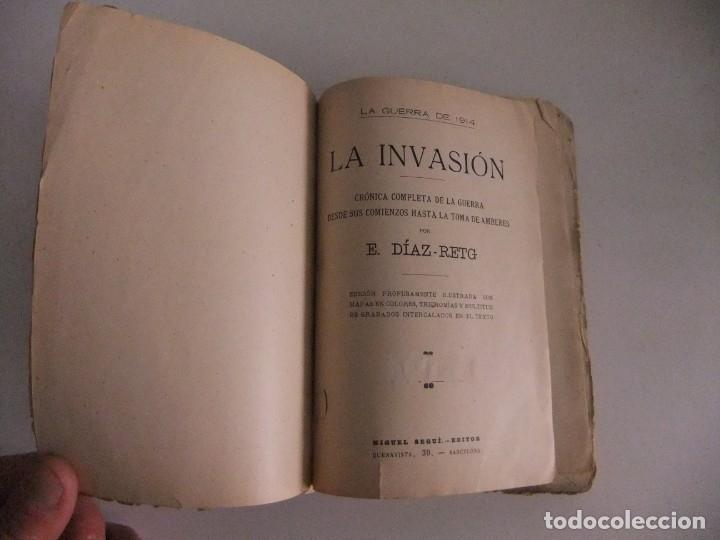 Libros antiguos: la guerra de 1914,la invasion. - Foto 2 - 173800810