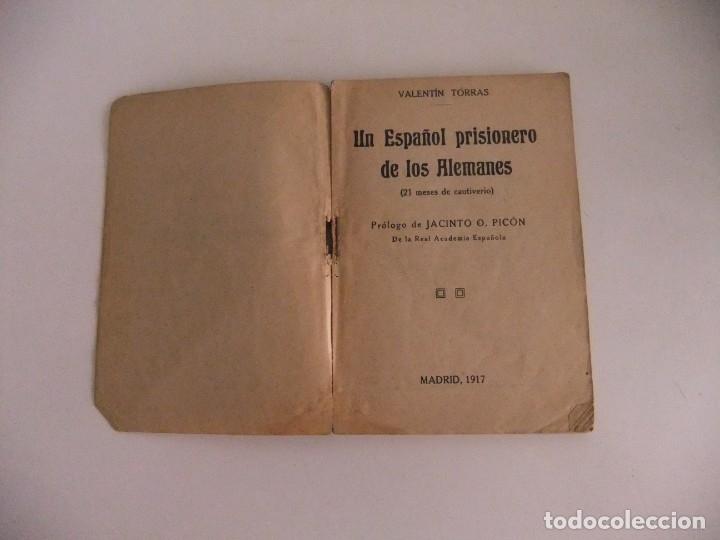 Libros antiguos: un español prisionero de los alemanes - Foto 2 - 173801478