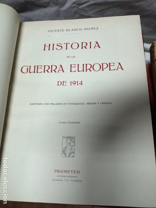 Libros antiguos: Historia guerra europea Vicente Blasco Ibáñez, 1ª Edición. - Foto 4 - 178726427