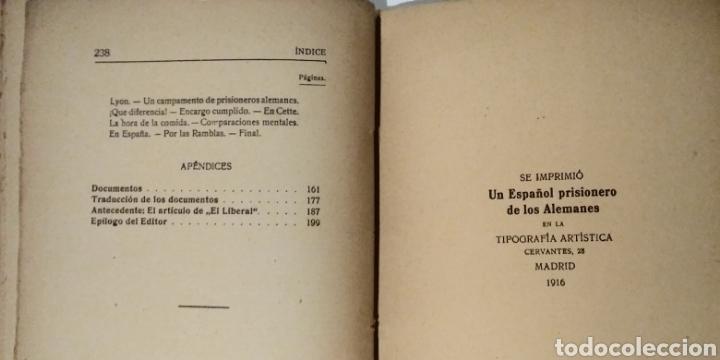 Libros antiguos: UN ESPAÑOL PRISIONERO DE LOS ALEMANES - Foto 7 - 183443923