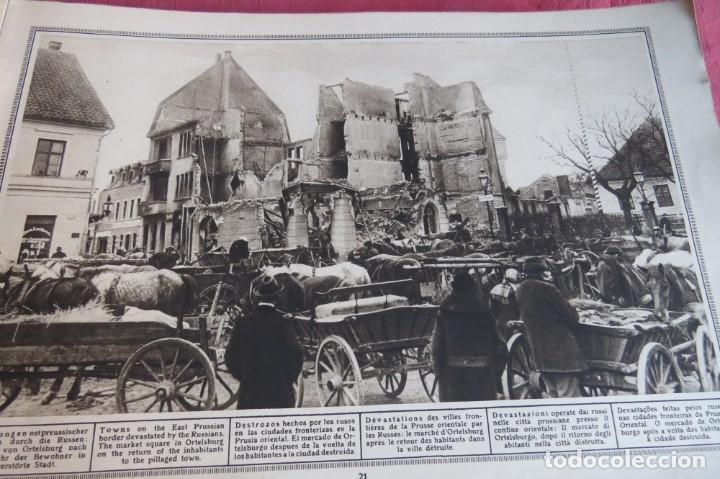 Libros antiguos: 9 numeros LA GUERRA GRANDE EN CUADROS 1915. Deutscher ubersesrrdienst BERLIN - Foto 13 - 185911990