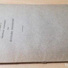 Libros antiguos: LA CULPA DE BELGICA - PRIMERA GUERRA MUNDIAL - CONTESTACION AL PROFESOR WAXWEILER POR RICHARD GRASSO. Lote 190288121