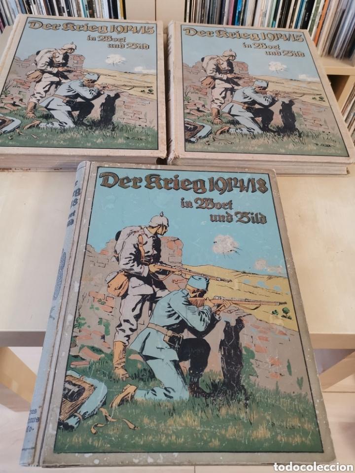 Libros antiguos: DER KRIEG 1914 COMPLETO 3 TOMOS I GUERRA MUNDIAL - Foto 2 - 196291196