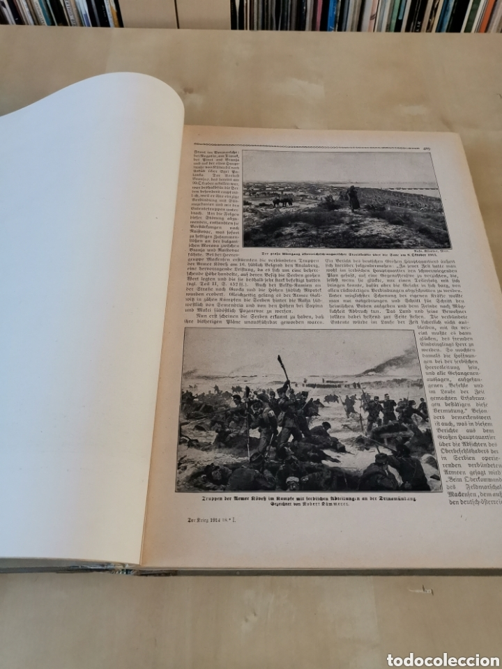 Libros antiguos: DER KRIEG 1914 COMPLETO 3 TOMOS I GUERRA MUNDIAL - Foto 29 - 196291196