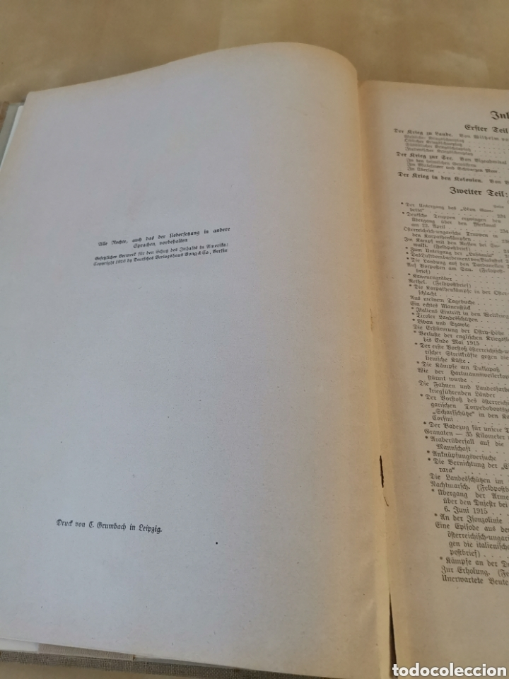 Libros antiguos: DER KRIEG 1914 COMPLETO 3 TOMOS I GUERRA MUNDIAL - Foto 33 - 196291196