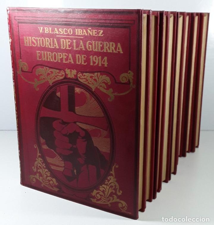 Libros antiguos: HISTORIA DE LA GUERRA EUROPEA DE 1914. 9 TOMOS. V. BLASCO. EDITO. PROMETEO. - Foto 2 - 197995776