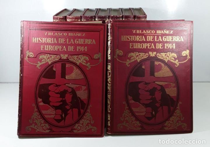 Libros antiguos: HISTORIA DE LA GUERRA EUROPEA DE 1914. 9 TOMOS. V. BLASCO. EDITO. PROMETEO. - Foto 3 - 197995776