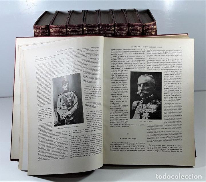 Libros antiguos: HISTORIA DE LA GUERRA EUROPEA DE 1914. 9 TOMOS. V. BLASCO. EDITO. PROMETEO. - Foto 4 - 197995776
