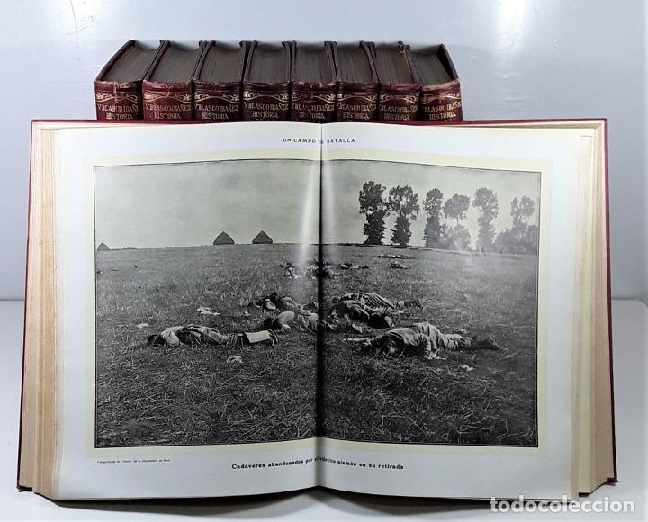 Libros antiguos: HISTORIA DE LA GUERRA EUROPEA DE 1914. 9 TOMOS. V. BLASCO. EDITO. PROMETEO. - Foto 6 - 197995776
