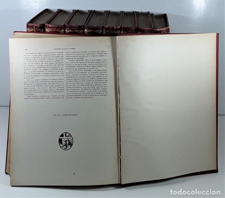 Libros antiguos: HISTORIA DE LA GUERRA EUROPEA DE 1914. 9 TOMOS. V. BLASCO. EDITO. PROMETEO. - Foto 7 - 197995776