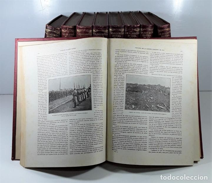 Libros antiguos: HISTORIA DE LA GUERRA EUROPEA DE 1914. 9 TOMOS. V. BLASCO. EDITO. PROMETEO. - Foto 8 - 197995776