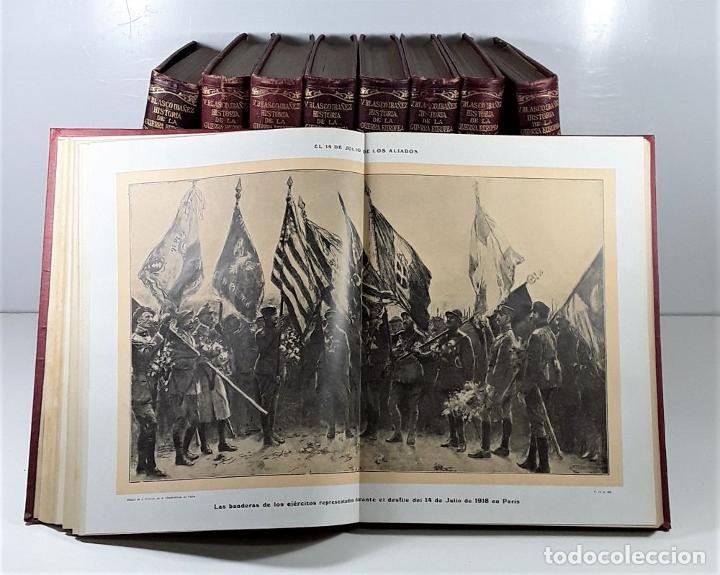 Libros antiguos: HISTORIA DE LA GUERRA EUROPEA DE 1914. 9 TOMOS. V. BLASCO. EDITO. PROMETEO. - Foto 9 - 197995776