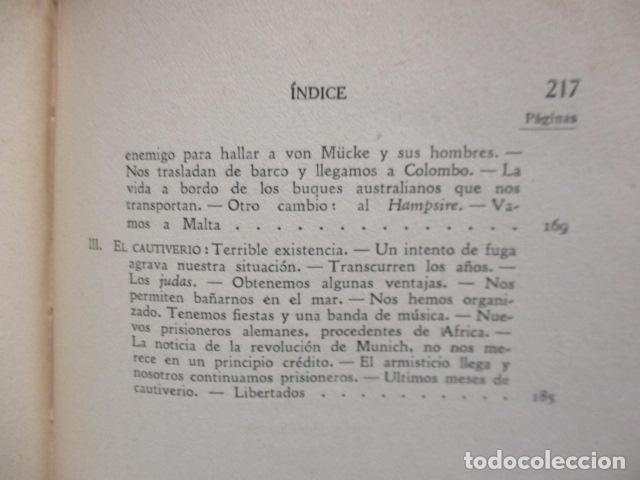 Libros antiguos: EL EMDEN. LAS HAZAÑAS DEL FAMOSO CRUCERO ALEMÁN. HELLMUTH VON MÜCKE. EDITOR JOAQUÍN GIL. 1ª Ed. 1930 - Foto 21 - 199687766