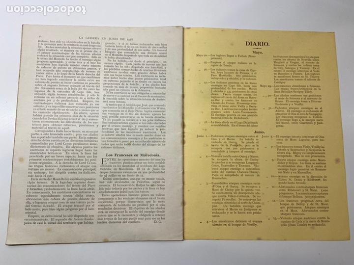 Libros antiguos: La Guerra en Junio 1918 - Foto 5 - 201164496