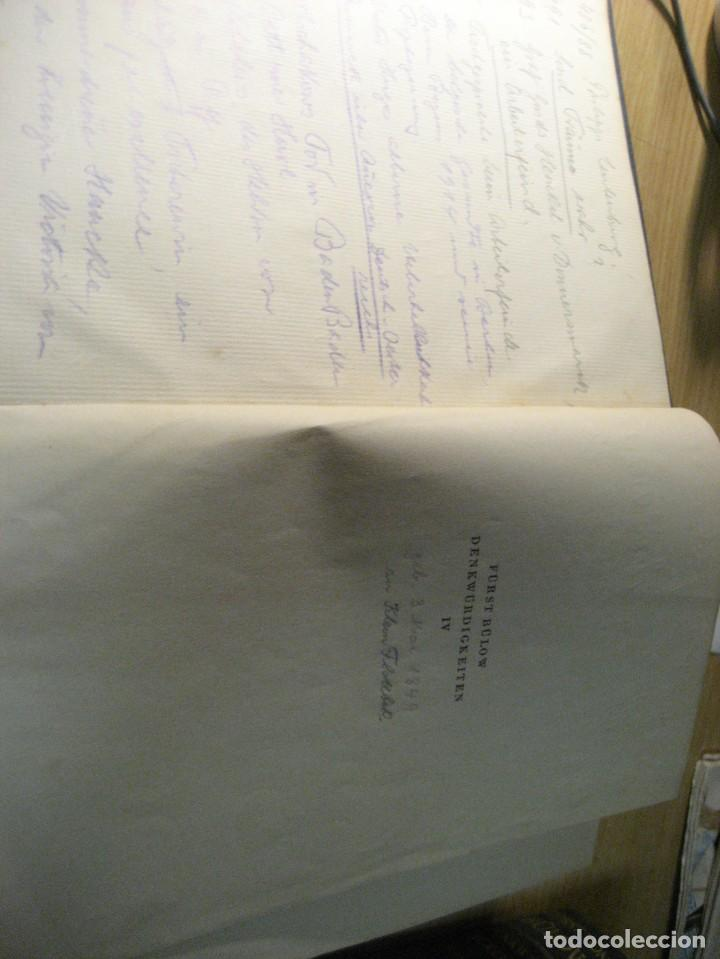 Libros antiguos: fúrst von bülow . denkwür digkeiten 3 tomos memorias documentos cartas facsímil año 1930 guerra mun - Foto 6 - 206940570