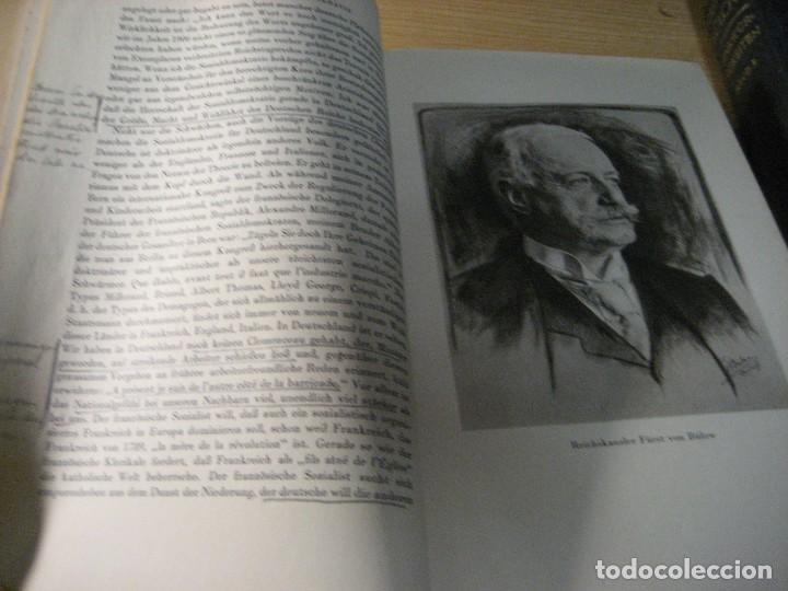 Libros antiguos: fúrst von bülow . denkwür digkeiten 3 tomos memorias documentos cartas facsímil año 1930 guerra mun - Foto 17 - 206940570