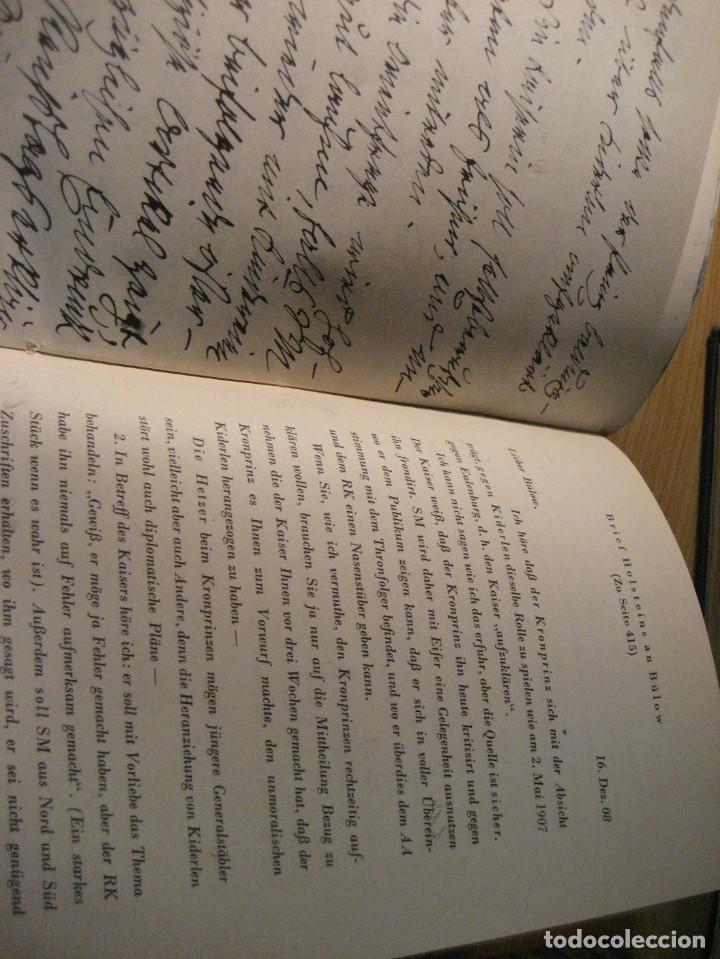 Libros antiguos: fúrst von bülow . denkwür digkeiten 3 tomos memorias documentos cartas facsímil año 1930 guerra mun - Foto 23 - 206940570