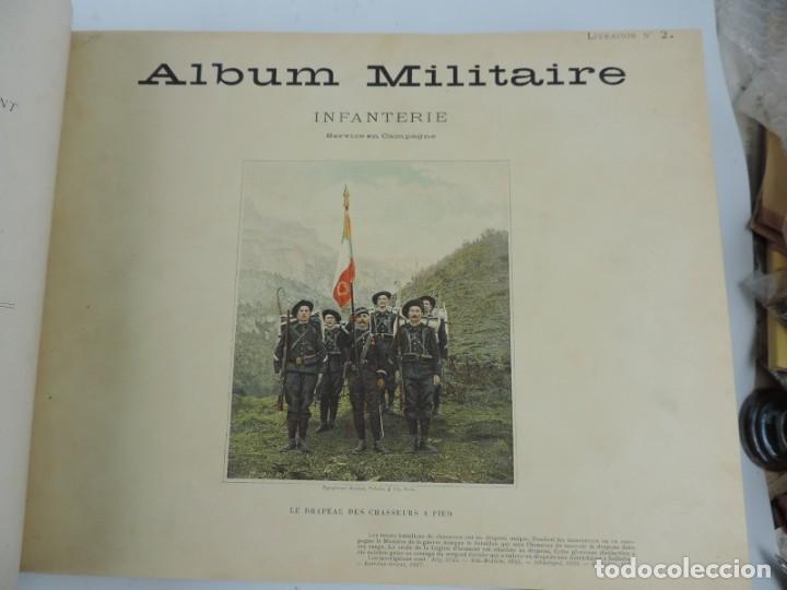 Libros antiguos: ALBUM MILITAIRE DE LARMEE FRANCAISE, EJERCITO FRANCES, 1895 aprox. Por Boussod, Valadon et Cie. Édi - Foto 5 - 207918155