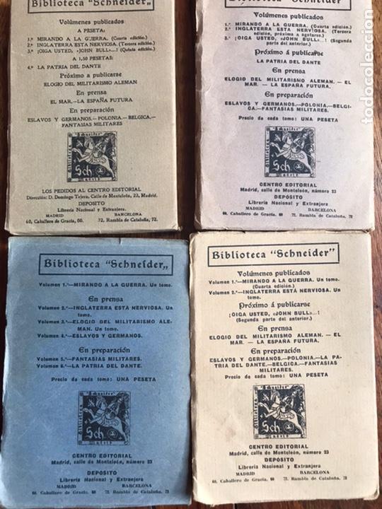 Libros antiguos: Lote de 4 libros biblioteca Schneider 1914 - Foto 2 - 208160553