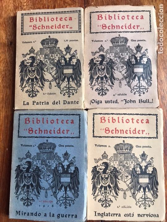 LOTE DE 4 LIBROS BIBLIOTECA SCHNEIDER 1914 (Libros antiguos (hasta 1936), raros y curiosos - Historia - Primera Guerra Mundial)