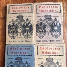 Libros antiguos: LOTE DE 4 LIBROS BIBLIOTECA SCHNEIDER 1914. Lote 208160553
