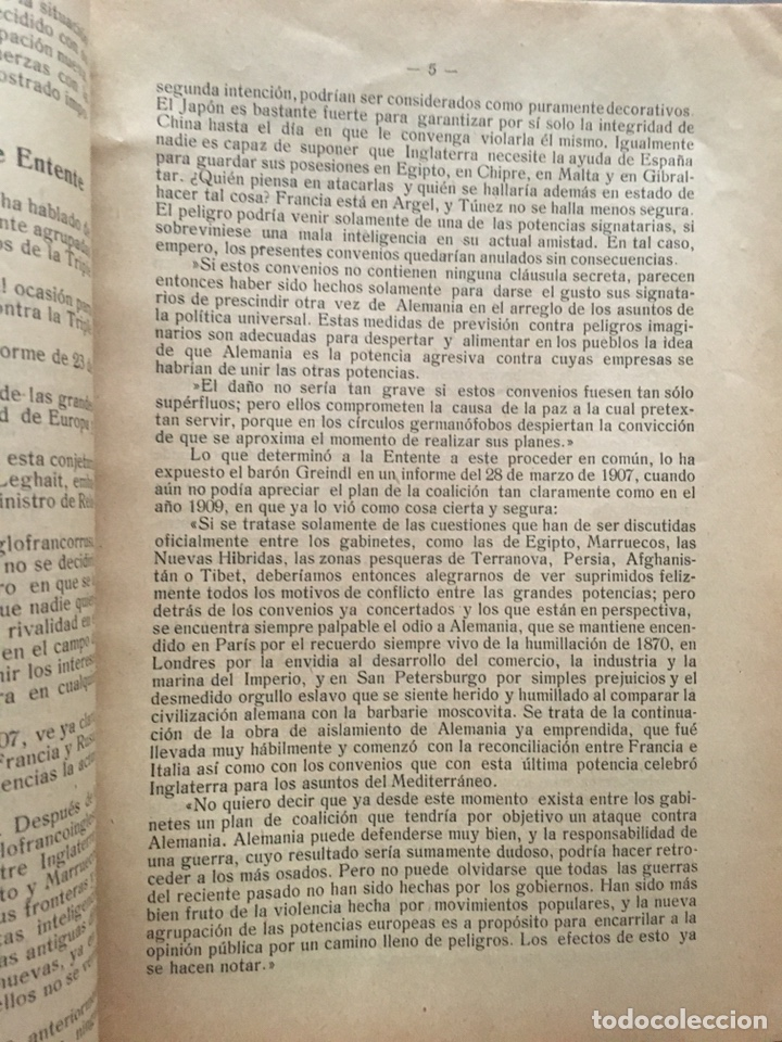 Libros antiguos: ALEMANIA EN LA GUERRA EUROPEA - Carlos Honn- 32p. 21x15 - Foto 3 - 212753302