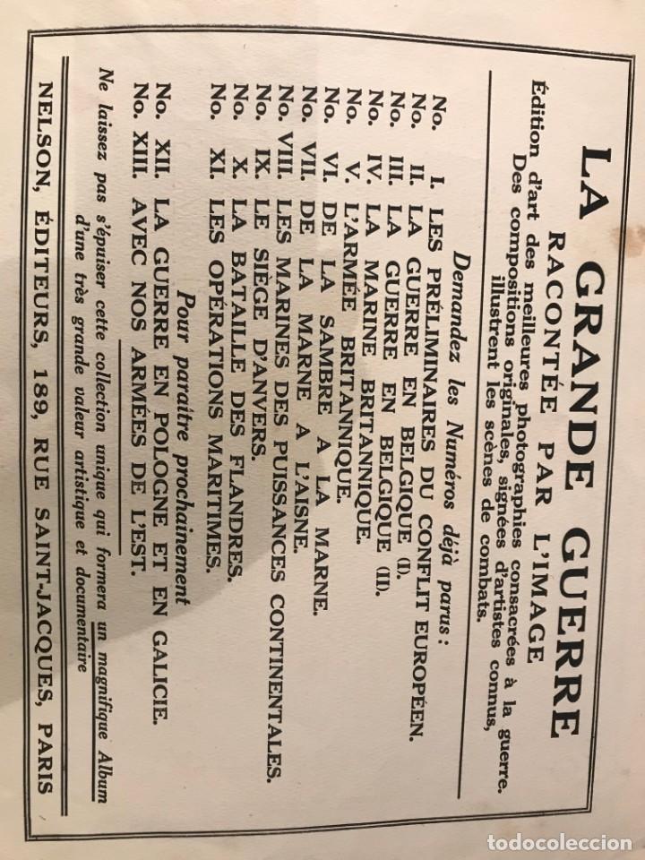 Libros antiguos: LA GRANDE GUERRE RACONTEE PAR LIMAGE REVUE BIMENSUELLE JULLIET 1915 24 GRANDES FOTOGRAFIAS - Foto 2 - 215001908