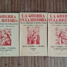 Libros antiguos: GRAN GUERRA EUROPEA: EL MARNE, 1914 / EL FRENTE ORIENTAL, 1914-1915 / VERDÚN, 1916 / EL FRENTE OCCID. Lote 218874383