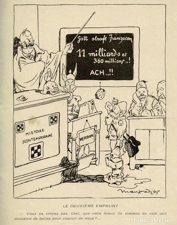 Libros antiguos: Dessins de guerre - Manfredini - Caricaturas - Primera Guerra Mundial - Francia - 1917 - Foto 2 - 236730310