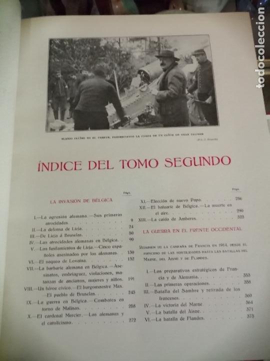 Libros antiguos: Historia guerra europea Vicente Blasco Ibáñez, 1ª Edición. - Foto 8 - 178726427