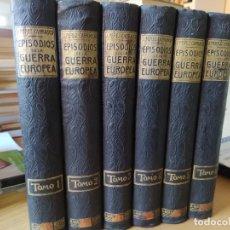 Libros antiguos: RAREZA. EPISODIOS DE LA GUERRA EUROPEA. BARCELONA, ED. ALBERTO MARTIN, SIN FECHA. UNA JOYA.. Lote 243440750