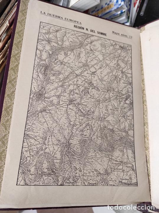 Libros antiguos: La guerra europea mapas - 6 tomos completos con todos los mapas - Muy buen estado - Foto 2 - 244411505