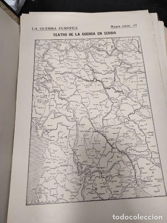 Libros antiguos: La guerra europea mapas - 6 tomos completos con todos los mapas - Muy buen estado - Foto 3 - 244411505