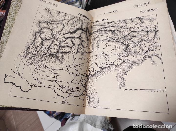 Libros antiguos: La guerra europea mapas - 6 tomos completos con todos los mapas - Muy buen estado - Foto 4 - 244411505
