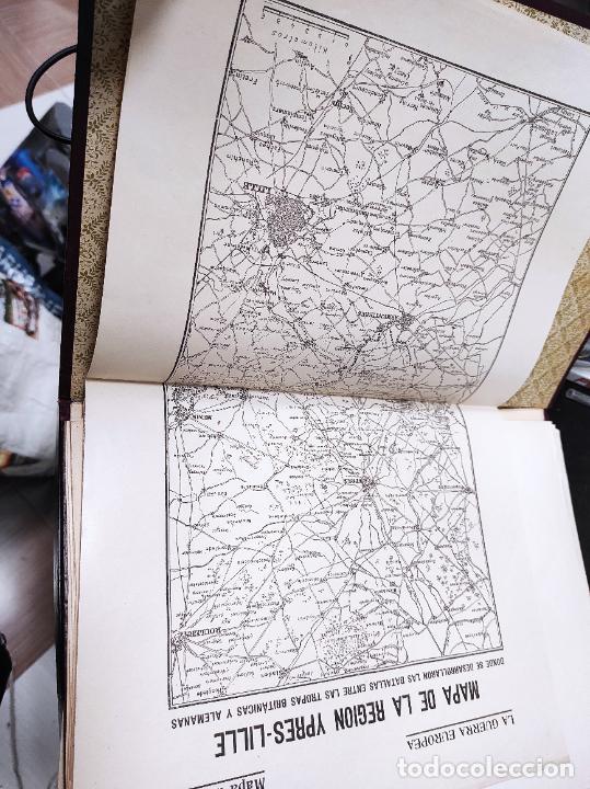 Libros antiguos: La guerra europea mapas - 6 tomos completos con todos los mapas - Muy buen estado - Foto 5 - 244411505