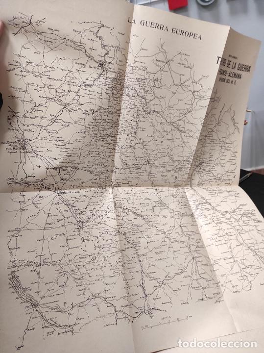 Libros antiguos: La guerra europea mapas - 6 tomos completos con todos los mapas - Muy buen estado - Foto 6 - 244411505