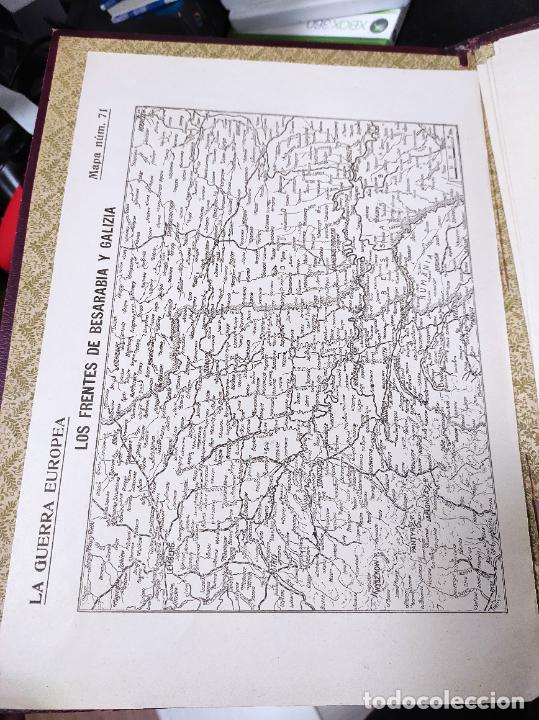 Libros antiguos: La guerra europea mapas - 6 tomos completos con todos los mapas - Muy buen estado - Foto 7 - 244411505