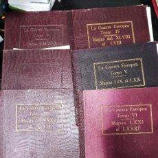 Libros antiguos: LA GUERRA EUROPEA MAPAS - 6 TOMOS COMPLETOS CON TODOS LOS MAPAS - MUY BUEN ESTADO. Lote 244411505