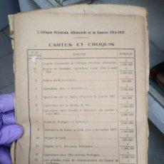 Libros antiguos: L´AFRIQUE ORIENTALE ALLEMANDE ET LA GUERRE 1914-1918. Lote 252975775