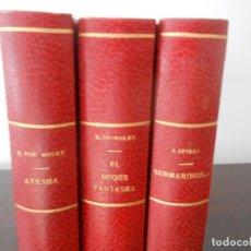 Libros antiguos: LOTE 3 LIBROS 1ª PRIMERAS EDICIONES EL BUQUE FANTASMA SUBMARINOS AYESHA 1930 SPINDLER MUCKE SPIESS B. Lote 258930995
