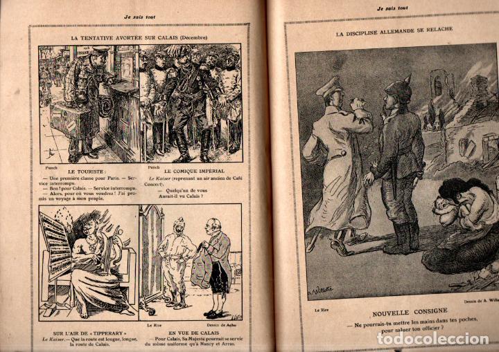 Libros antiguos: JE SAIS TOUT 15 MARS 1915 - 7 MOIS DE GUERRE PAR LA CARICATURE - Foto 2 - 262499320