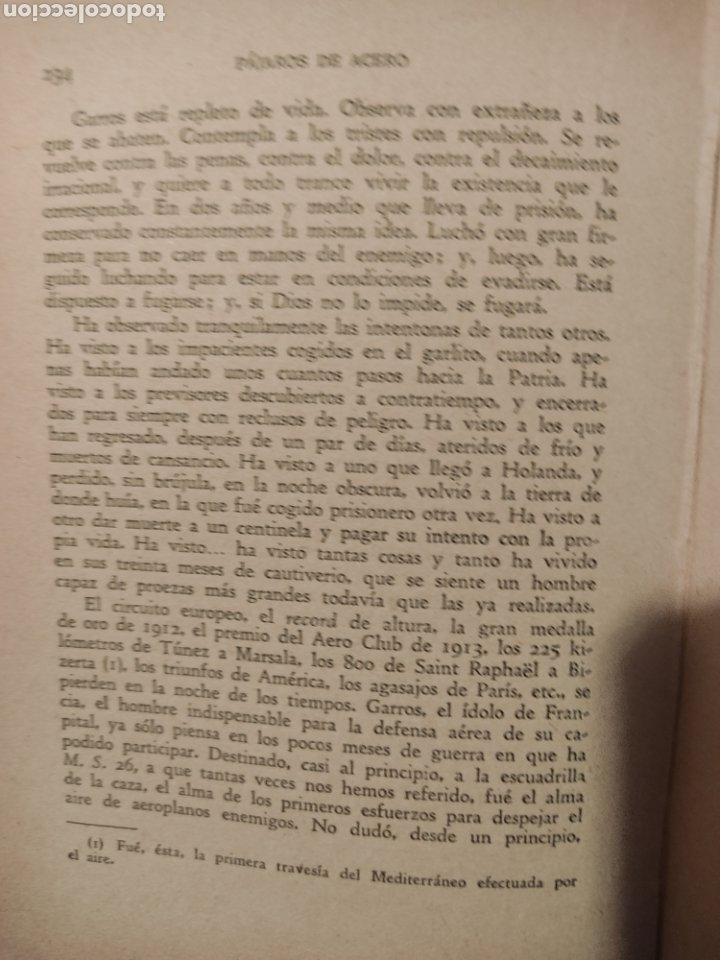 Libros antiguos: Pájaros de acero - Foto 4 - 276573723